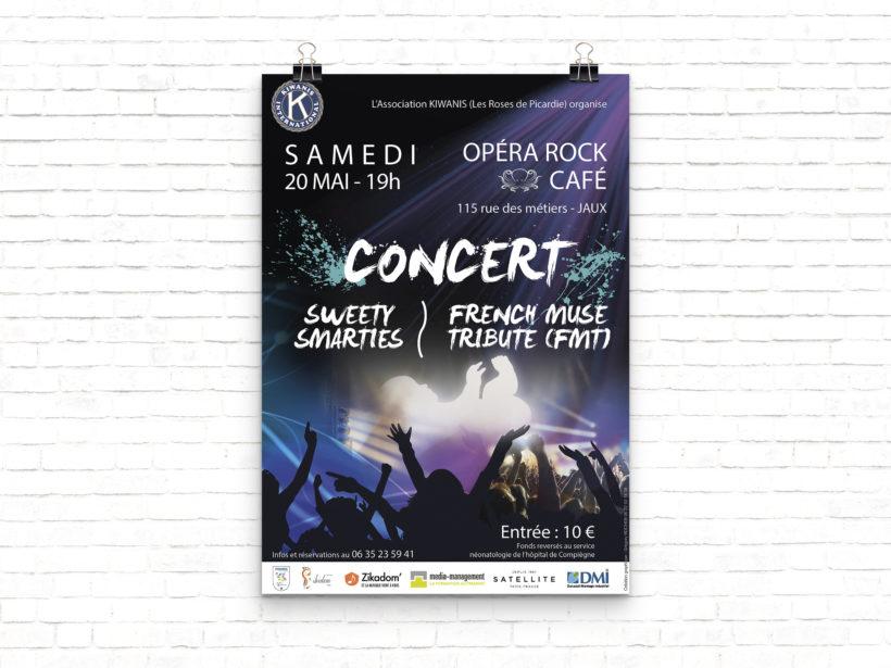 Mock-up affiche concert